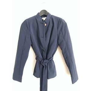 H&M Fitted Military Style Navy Blazer